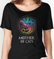 Aurora Mother Of Cats Logo Women's Relaxed Fit T-Shirt