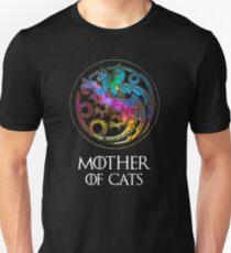 Aurora Mutter von Katzen Logo Slim Fit T-Shirt