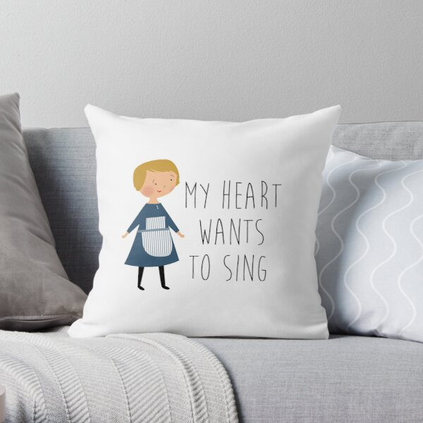 Sound of music maria Throw Pillow