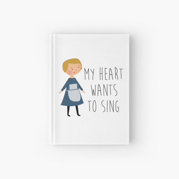 Sound of music maria Hardcover Journal