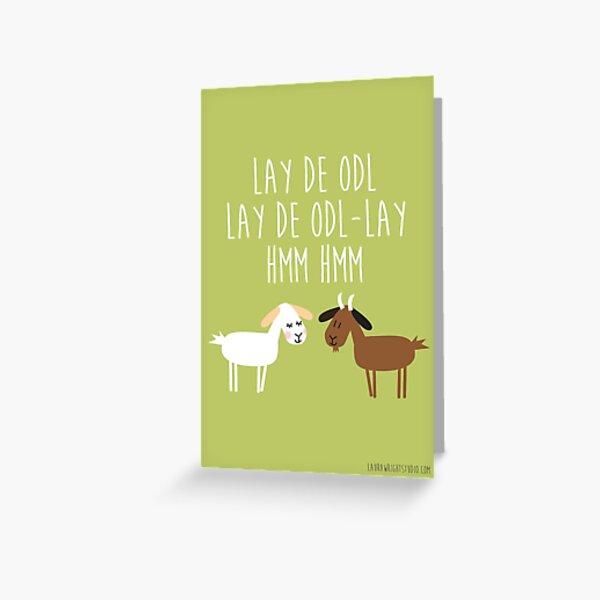 Goat Dawn Greeting Card