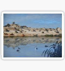 Lake Mungo - an unreal landscape Sticker