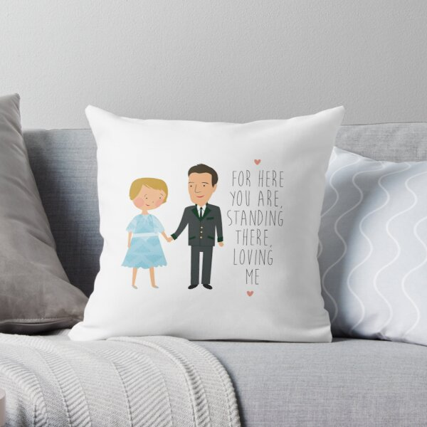 sound of music - loving me Throw Pillow
