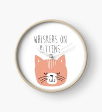 sound of music whiskers on kittens Clock