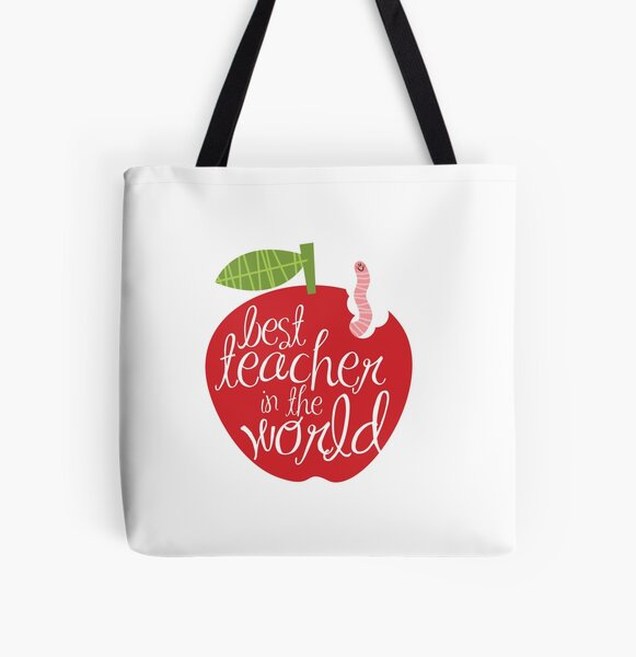 Best teacher in the world All Over Print Tote Bag
