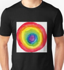 Energetic Abstractions - Painted Chakra Circle Unisex T-Shirt