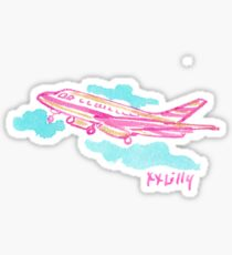 Lilly Plane Sticker