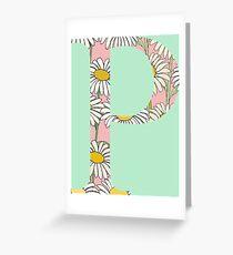 Rho P Daisies Greeting Card