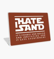 For sand haters (white) Laptop Skin