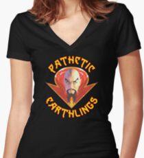 Ming the Merciless - Pathetic Earthlings Variant Two Women's Fitted V-Neck T-Shirt