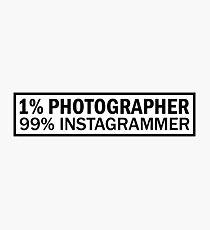 Fake Photographer Photographic Print
