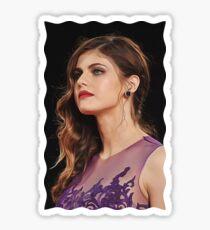 Alexandra Daddario - Celebrity (Oil Paint Art) Sticker