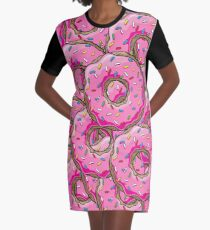 You can't buy happiness, but you can buy many donuts! Graphic T-Shirt Dress