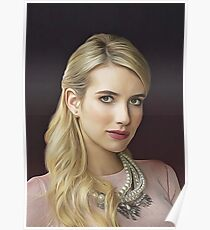 Emma Roberts - Celebrity (Oil Paint Art) Poster
