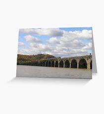 Amtrak at Rockville Bridge Greeting Card