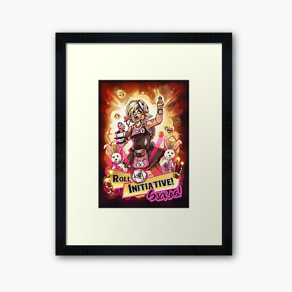 Roll for Initiative Suckas! Framed Art Print