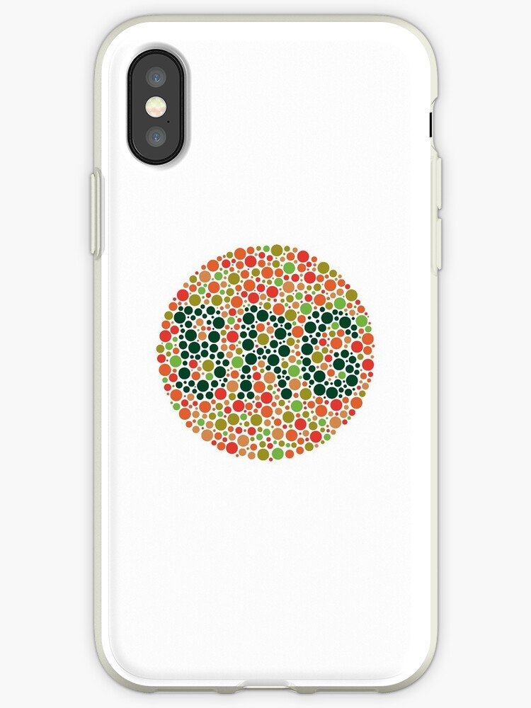 British Racing Green Ishihara Eye Test Iphone Cases Covers By