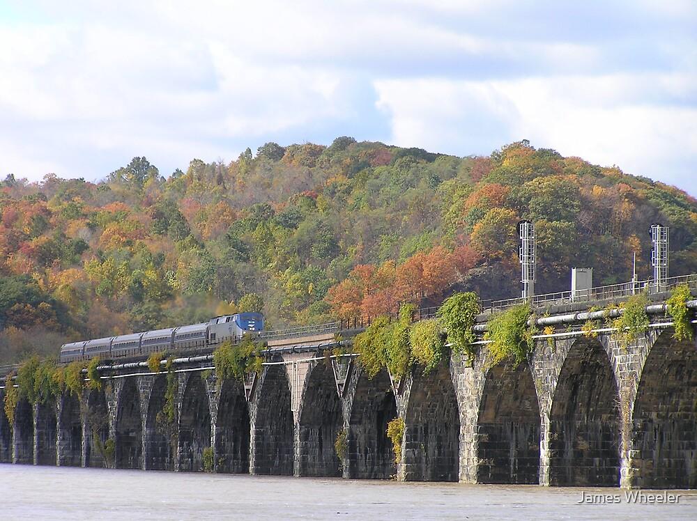 Amtrak at Rockville Bridge II by James Wheeler