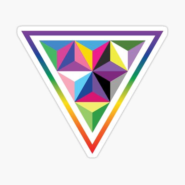LGBTQIA+ Pride Triangle Sticker