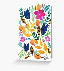 Flower Mayhem Greeting Card