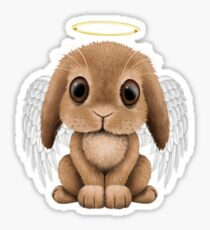 Cute Baby Bunny Angel Sticker