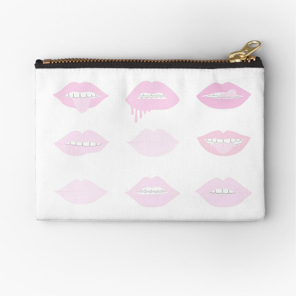 rosa und erröten Lippenstift Lippen Täschchen