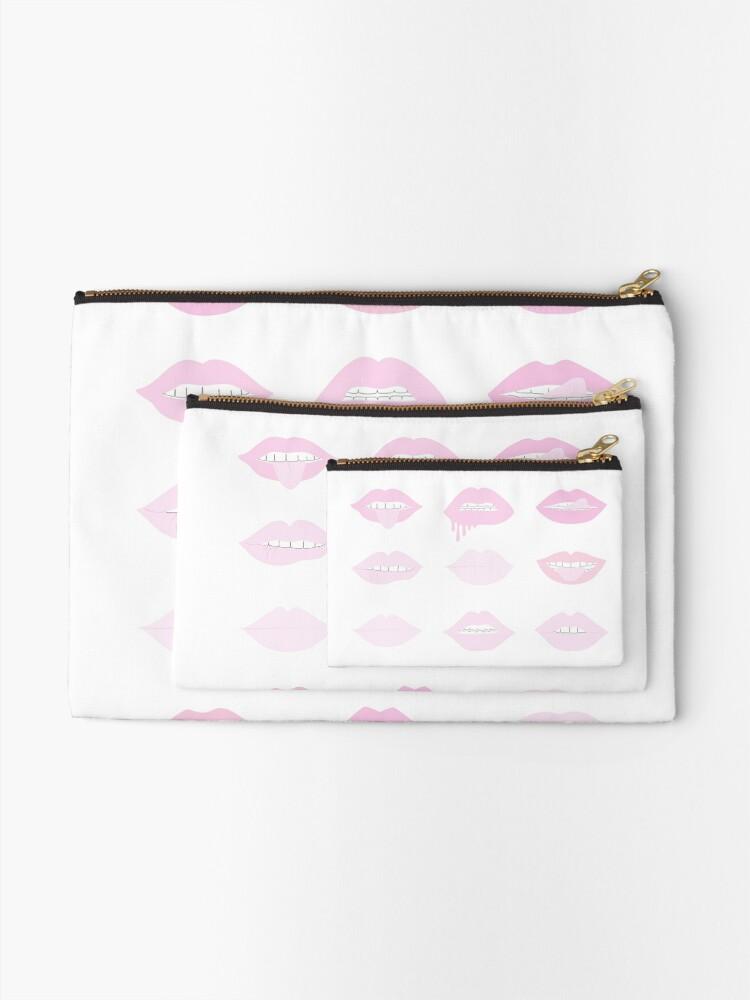 Alternative Ansicht von rosa und erröten Lippenstift Lippen Täschchen