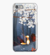 Red Fox and Cherry Bloom | What I Know about White Socks iPhone Case/Skin