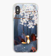 Red Fox and Cherry Bloom | What I Know about White Socks iPhone Case