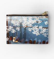 Red Fox and Cherry Bloom | What I Know about White Socks Zipper Pouch