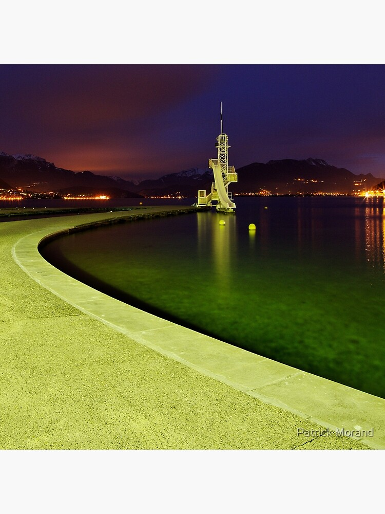 Night comes on Annecy lake by patmo