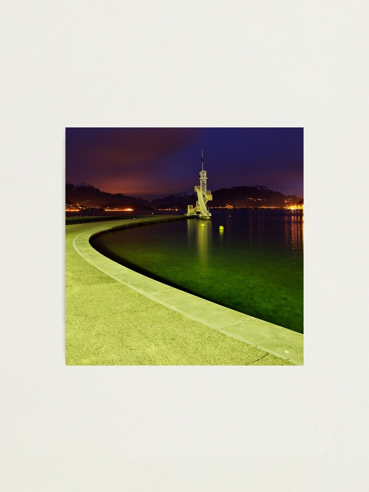 Alternate view of Night comes on Annecy lake Photographic Print