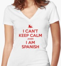 I Can't Keep Calm Women's Fitted V-Neck T-Shirt