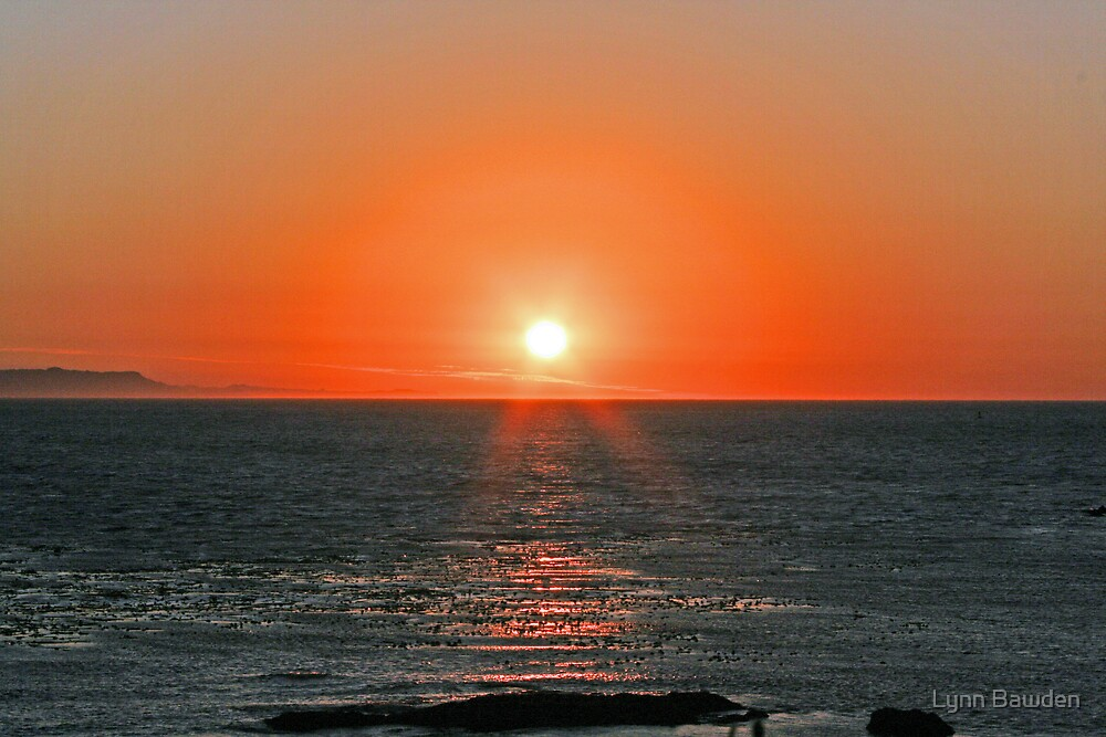 """""""Sunset Over The Strait of Juan DeFuca"""" by Lynn Bawden"""