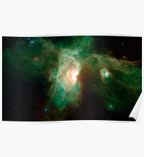 The Flame Nebula - Horsehead Nebula Giant Fantastic Astronomy Photo Print  Poster