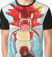 Gyarados Rojo Pokémon Plata y Pokémon Oro / Gyarados Red Pokémon Silver and Gold Graphic T-Shirt