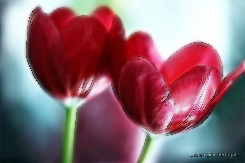 Neon Tulip Duo by Lesley Smitheringale