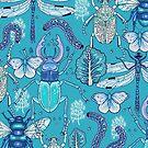happy frozen blue bugs by smalldrawing