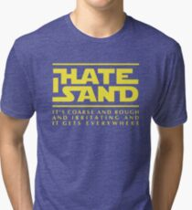 For sand haters (yellow) Tri-blend T-Shirt