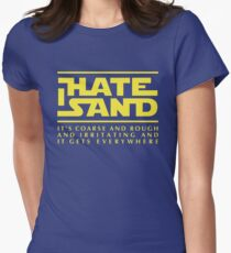 For sand haters (yellow) Women's Fitted T-Shirt