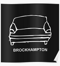 BROCKHAMPTON Couch Logo White Poster