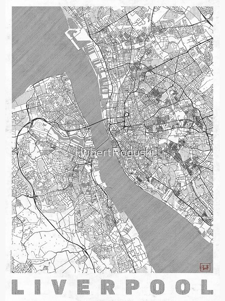 Liverpool Map Line by HubertRoguski