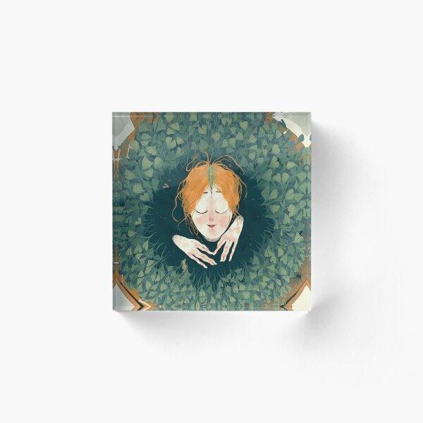 Persephone Sprout Acrylic Block
