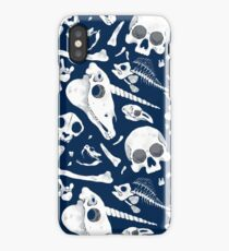 blue Skulls and Bones - Wunderkammer iPhone Case