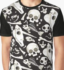 black Skulls and Bones - Wunderkammer Graphic T-Shirt