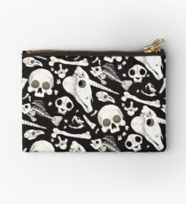 black Skulls and Bones - Wunderkammer Studio Pouch