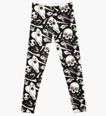 black Skulls and Bones - Wunderkammer Leggings