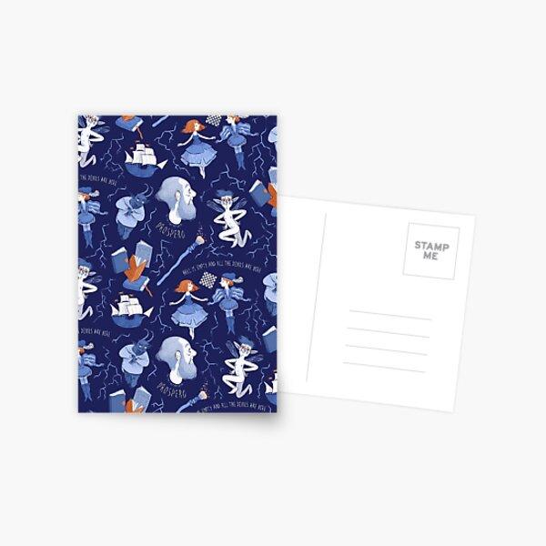 Shakespearean pattern -the Tempest Postcard
