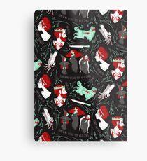 Shakespearean pattern - Macbeth Metal Print