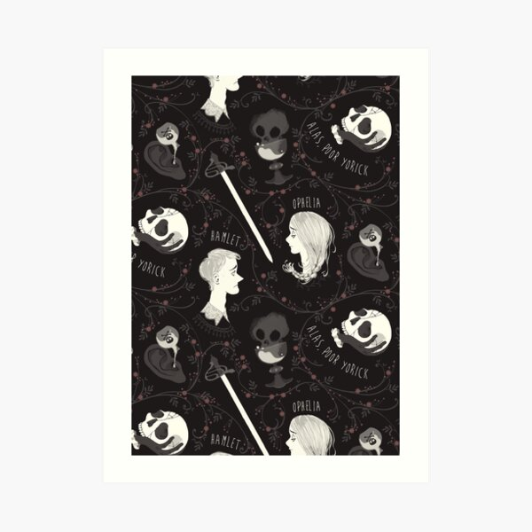 Shakespearean pattern - Hamlet Art Print